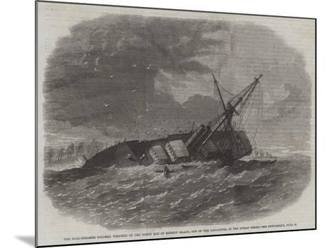 The Mail-Steamer Colombo Wrecked on the North End of Minicoy Island--Mounted Giclee Print