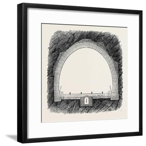 The New Overland Route to India and the Railway Tunnel of the Alps--Framed Art Print