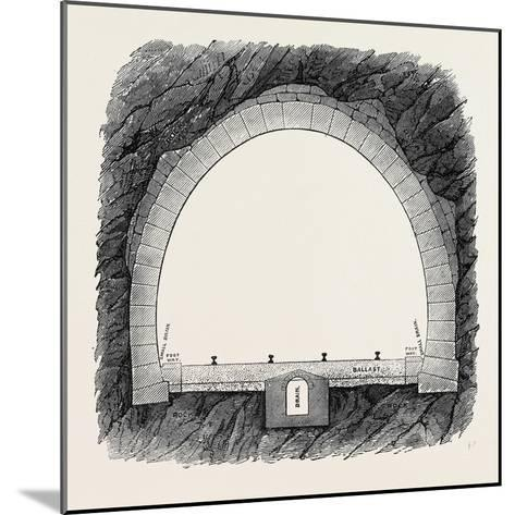 The New Overland Route to India and the Railway Tunnel of the Alps--Mounted Giclee Print