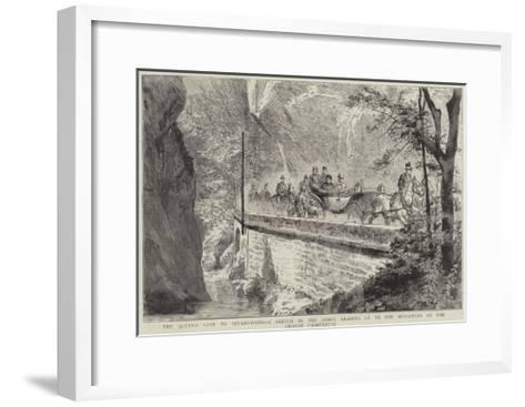 The Queen's Visit to Aix-Les-Bains--Framed Art Print