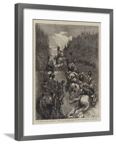 The Recent Summer Manoeuvres--Framed Art Print