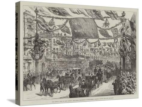 The Queen's Visit to East London--Stretched Canvas Print