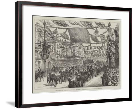 The Queen's Visit to East London--Framed Art Print