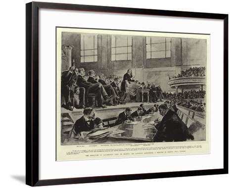 The Marquess of Salisbury's Visit to Ulster--Framed Art Print