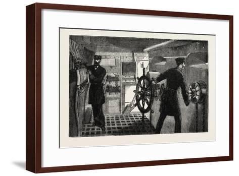The New War Ship of the British Navy--Framed Art Print