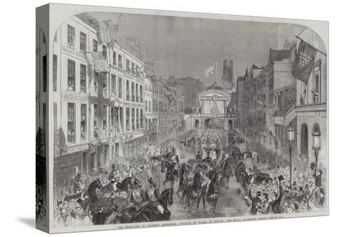 The Reception of Princess Alexandra (Princess of Wales) in London--Stretched Canvas Print
