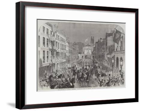 The Reception of Princess Alexandra (Princess of Wales) in London--Framed Art Print