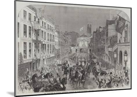 The Reception of Princess Alexandra (Princess of Wales) in London--Mounted Giclee Print