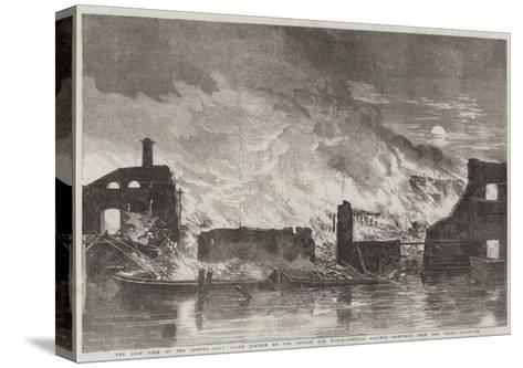 The Late Fire at the Camden-Town Goods Station of the London and North-Western Railway--Stretched Canvas Print