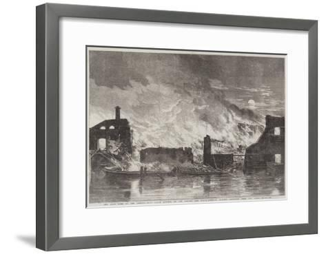 The Late Fire at the Camden-Town Goods Station of the London and North-Western Railway--Framed Art Print