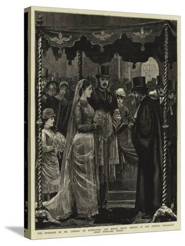 The Marriage of Mr Leopold De Rothschild and Mademoiselle Marie Perugia in the Central Synagogue--Stretched Canvas Print
