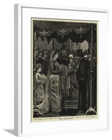 The Marriage of Mr Leopold De Rothschild and Mademoiselle Marie Perugia in the Central Synagogue--Framed Art Print