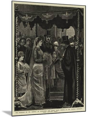 The Marriage of Mr Leopold De Rothschild and Mademoiselle Marie Perugia in the Central Synagogue--Mounted Giclee Print