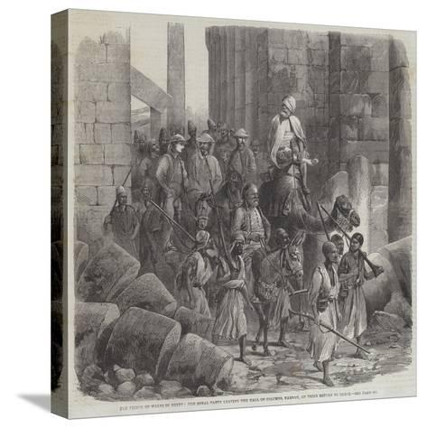 The Prince of Wales in Egypt--Stretched Canvas Print