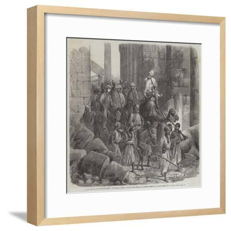 The Prince of Wales in Egypt--Framed Art Print