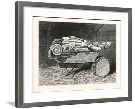 The Recovered Figure-Head of the Missing British Training-Ship Atalanta Sketched at St. Johns--Framed Art Print