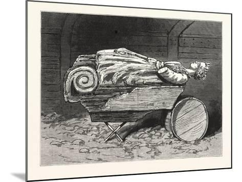 The Recovered Figure-Head of the Missing British Training-Ship Atalanta Sketched at St. Johns--Mounted Giclee Print