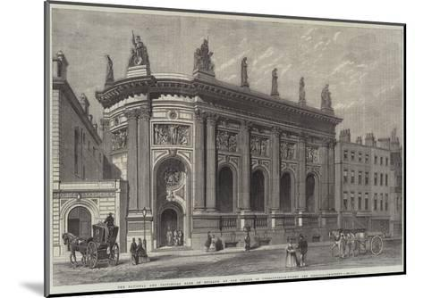 The National and Provincial Bank of England--Mounted Giclee Print