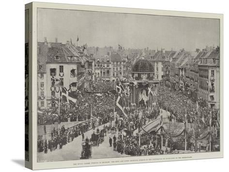The Royal Golden Wedding in Denmark--Stretched Canvas Print