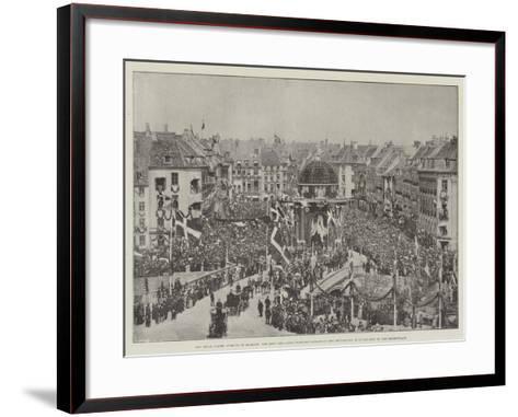 The Royal Golden Wedding in Denmark--Framed Art Print