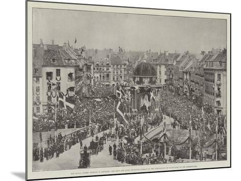 The Royal Golden Wedding in Denmark--Mounted Giclee Print