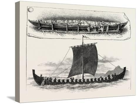 The Viking's Ship--Stretched Canvas Print