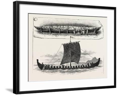 The Viking's Ship--Framed Art Print