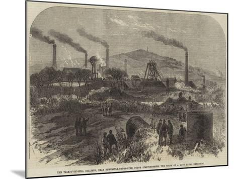 The Talk-O'-Th'-Hill Colliery--Mounted Giclee Print