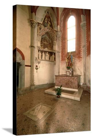 Tomb (Mid-14th Century) of Abbot Tommaso Gallo (Died in 1246)--Stretched Canvas Print