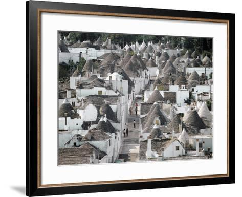 Trulli (Small Round Houses of Stone with Conical Roof) in Alberobello (Unesco World Heritage List--Framed Art Print