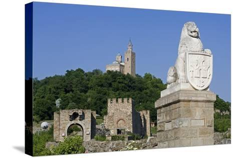 Tsarevets Fortress with Reconstructed Medieval Walls and St Salvatore Church on Top--Stretched Canvas Print