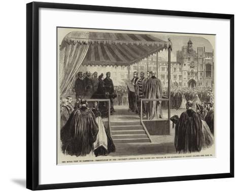 The Royal Visit to Cambridge--Framed Art Print
