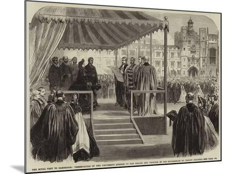 The Royal Visit to Cambridge--Mounted Giclee Print