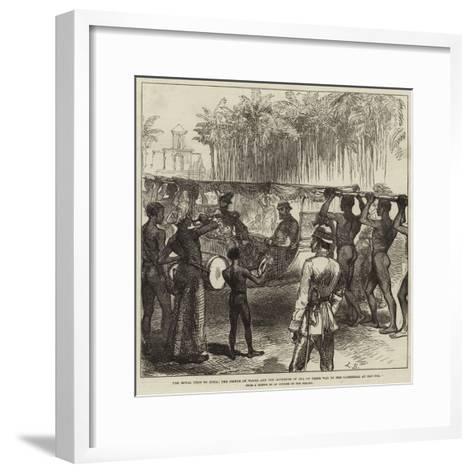 The Royal Visit to India--Framed Art Print