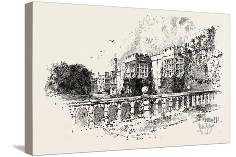The Terrace--Stretched Canvas Print