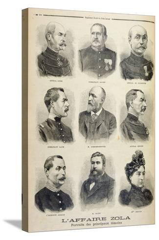 The Zola Affair: Portraits of the Main Witnesses from the Illustrated Supplement of Le Petit Journa--Stretched Canvas Print