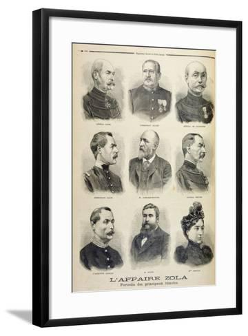 The Zola Affair: Portraits of the Main Witnesses from the Illustrated Supplement of Le Petit Journa--Framed Art Print