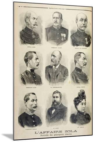 The Zola Affair: Portraits of the Main Witnesses from the Illustrated Supplement of Le Petit Journa--Mounted Giclee Print