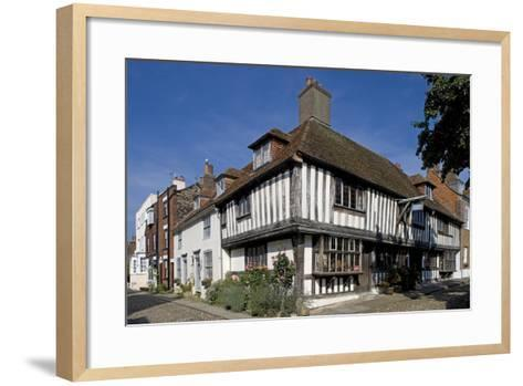 Traditional Style Buildings with Wooden Frame Structures in Church Square--Framed Art Print