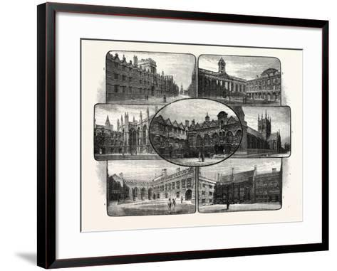 The Thirteenth and Fourteenth Century Colleges of Oxford University--Framed Art Print