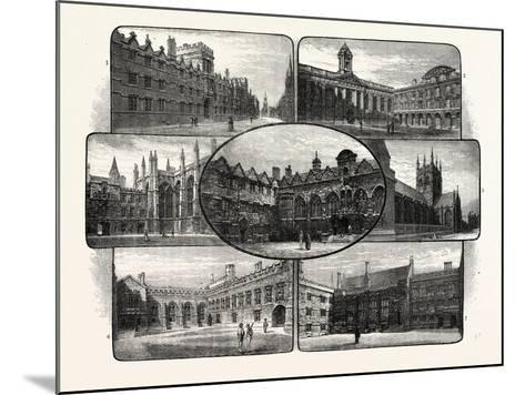 The Thirteenth and Fourteenth Century Colleges of Oxford University--Mounted Giclee Print