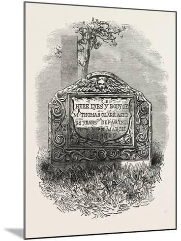 Tomb of the Mate of the Mayflower--Mounted Giclee Print
