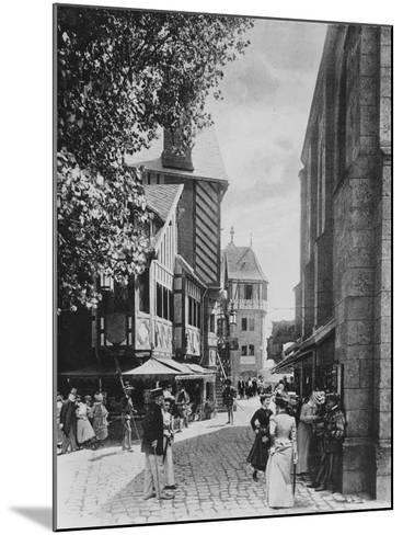 The Rue Des Vieilles Ecoles and the Church of Saint Julien--Mounted Giclee Print