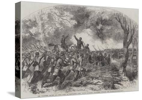 The Volunteer Review and Sham Fight at Panshanger Park--Stretched Canvas Print