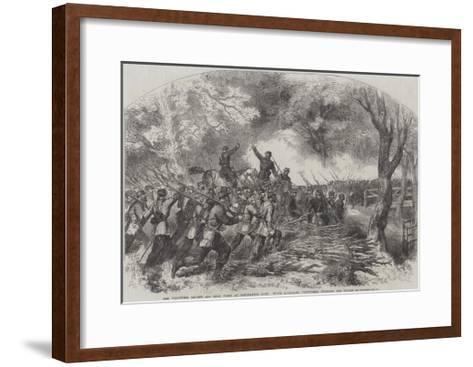 The Volunteer Review and Sham Fight at Panshanger Park--Framed Art Print