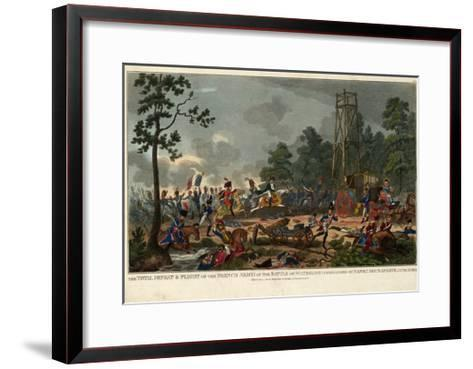 The Total Defeat and Flight of the French Army at the Battle of Waterloo Commanded by Napoleon Bona--Framed Art Print