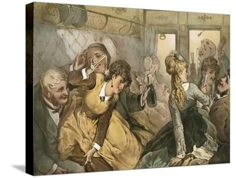 The Train of Pleasure for Madame Tellier's House--Stretched Canvas Print