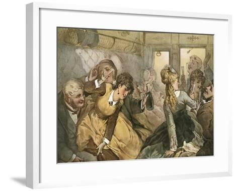 The Train of Pleasure for Madame Tellier's House--Framed Art Print