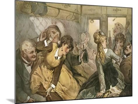 The Train of Pleasure for Madame Tellier's House--Mounted Giclee Print
