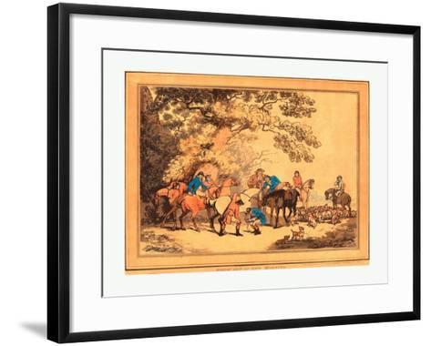 Thomas Rowlandson (British--Framed Art Print
